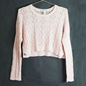 Cotton By Autumn Cashmere Scoop Neck Pink Sweater